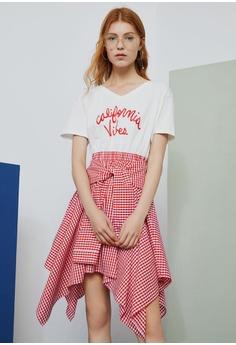 08d9ceb5d9e0 Hopeshow Checkered Skirt With Tie Belt RM 179.00. Sizes M L