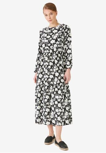 Trendyol black Black Floral Maxi Dress D1C94AAC8F6917GS_1