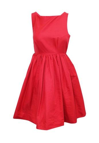 Kate Spade 紅色 kate spade 背面蝴蝶結紅色連衣裙 E0489AAB994BA3GS_1