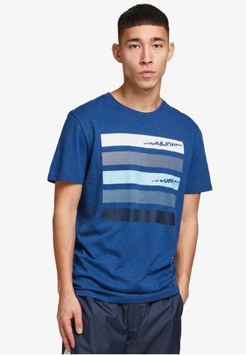 Jack & Jones blue Logo Graphic T-Shirt 4CF54AA14191C6GS_1