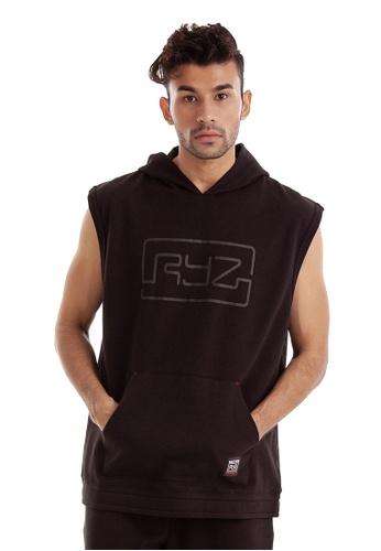 RYZ black RYZ Signature Sleeveless Black Hoodie 2.0. DF853AA128AB78GS_1