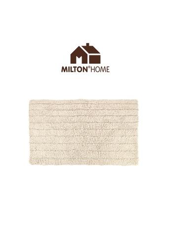 Milton Home SET OF 3 Milton Home Ripple Tufted Bath Mat with Anti Slip coating 40 x 60cm / 336g D12CBHL2426023GS_1
