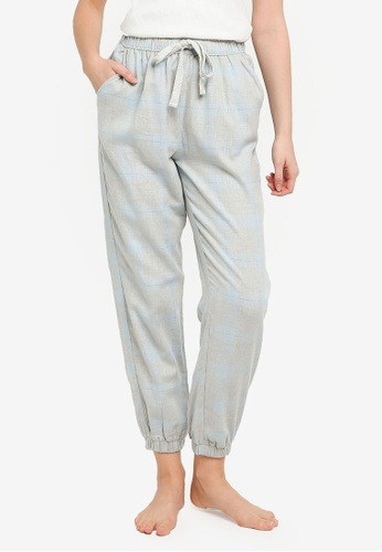 Cotton On Body blue Flannel Sleep Pants DC458AA9F88096GS_1