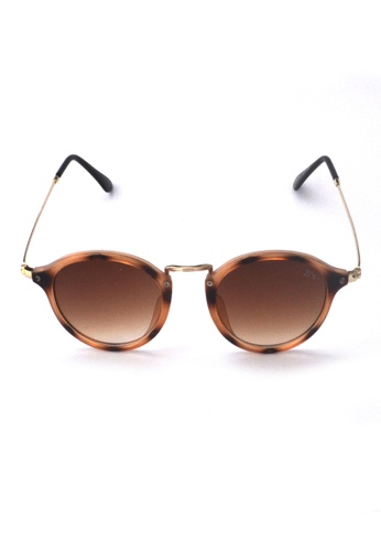 2i's to eyes brown Sunglasses│Vintage Round Brown Frame│UV400 Protection│2is YovaC BF08CGL7F0C69BGS_1