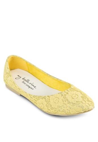 Lilliana 舒esprit服飾適蕾絲平底鞋, 女鞋, 鞋