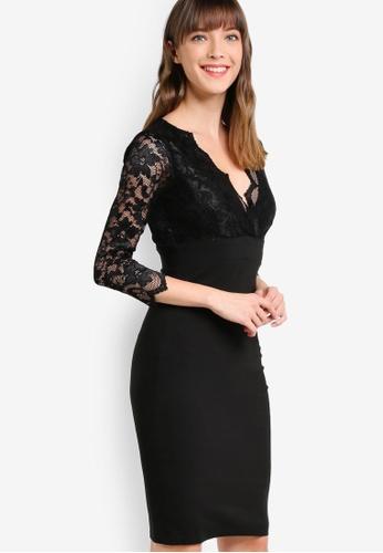 Scarlett B Black Chloe Bodycon Dress