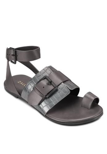 套趾扣環飾寬帶平底涼鞋、 女鞋、 鞋ZALORA套趾扣環飾寬帶平底涼鞋最新折價