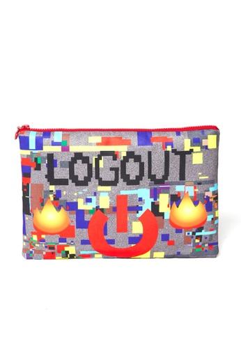 MASH-UP grey LOGOUT CLUTCH 7EA47AC5EFF45EGS_1