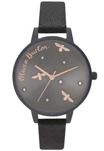 Olivia Burton gold Olivia Burton Pearly Queen BLACK Women's Watch (OB16PQ02) D024FACC87EB5AGS_1