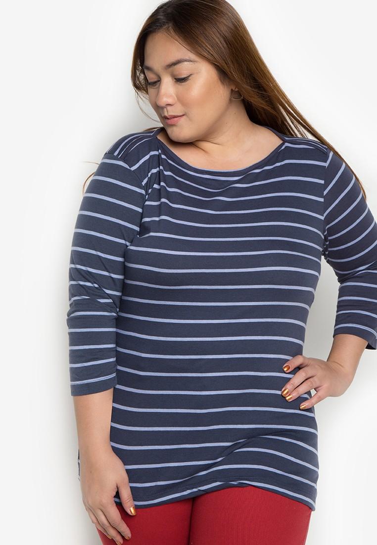 Jerry Stripe Plus Size Shirt