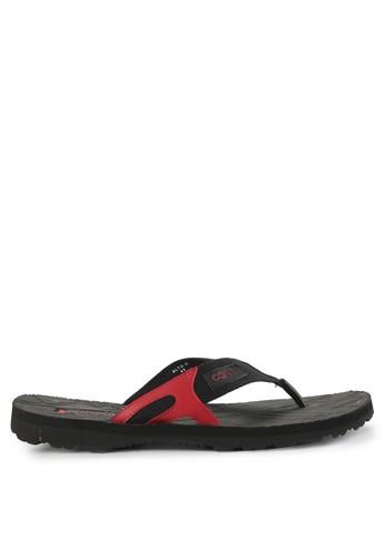 CARVIL black and multi Sandal Sponge Man Alto BAEC0SH547362DGS_1