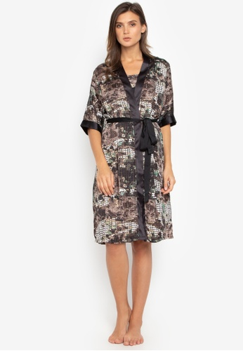 65ca1ea964 Shop Sleepyhead Sabrina Printed Silk Kimono Robe Online on ZALORA  Philippines