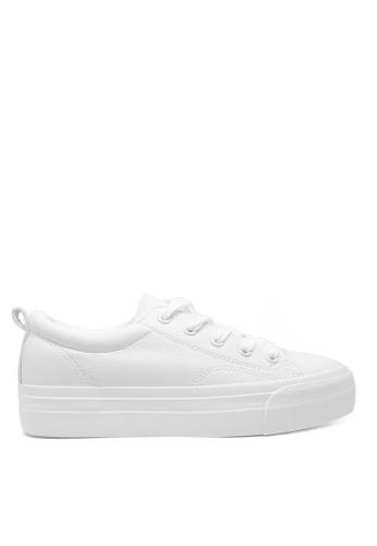 Twenty Eight Shoes 白色 厚底簡約白色運動鞋5131 55F78SH9A3A55AGS_1