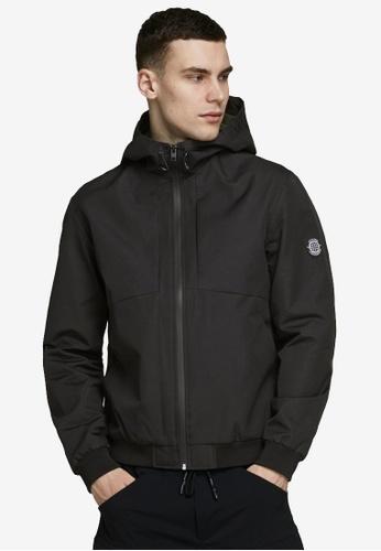 Jack & Jones black Hooded Zipper Jacket 2CC00AABC58908GS_1