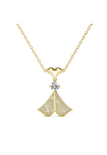 Her Jewellery yellow Rain Doll Pendant (Yellow Gold) -  Made with premium grade crystals from Austria 18618ACA7BDED2GS_1