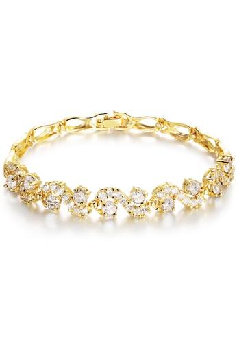 YOUNIQ gold YOUNIQ White Crescent CZ 18K Gold Plated Bracelet YO999AC97TEOMY_1