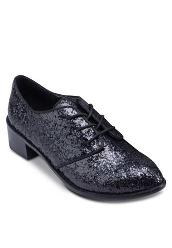 zalora 內衣滾邊繫帶牛津鞋, 女鞋, 鞋