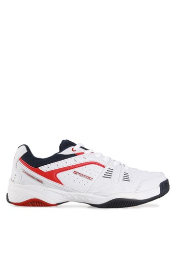 Spotec white and red Valencia Tennis Shoes SP567SH20WTRID_1