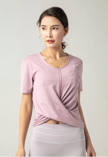 HAPPY FRIDAYS Women's Yoga Short Sleeve Tees DK-TX14 7A68FAADE59B3CGS_1