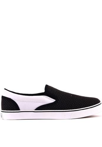 World Balance black Raleigh MS Slip On Sneakers WO444SH0K3CVPH_1