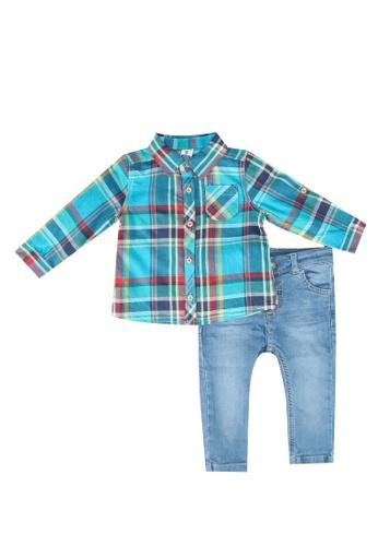 Baby Boy Plaid Shirt And Pants