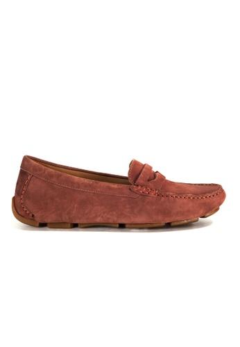 Shu Talk 褐色 Amaztep 舒服軟墊樂福鞋 575E2SHC174F3FGS_1