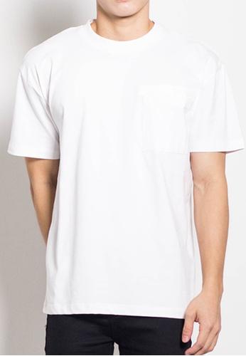 SUB white Men Oversized Plain Tee 1D846AA2CEACFBGS_1