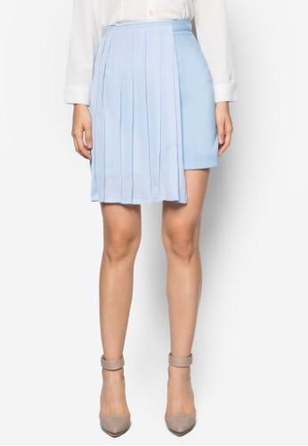 Geraldine 側褶飾短裙, 服飾, 清新esprit分店地址俏皮