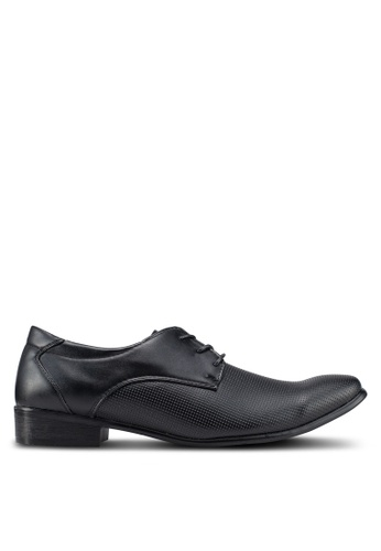 Rocklander 黑色 質感綁帶皮鞋 943B0SH5EE7F20GS_1
