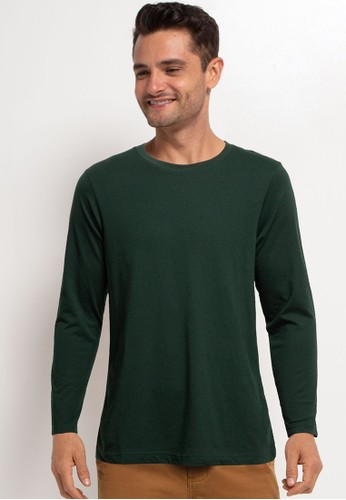 Tolliver green Basic Long Sleeve Tee 1C0C9AAB2E8FE4GS_1