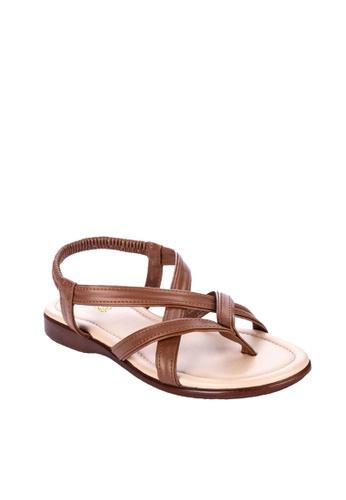 BANDOLINO brown Stacey Flats 79469SHFD56D7EGS_1
