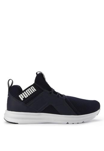 Puma blue Enzo Weave Shoes A52D9SHE70E9A6GS_1