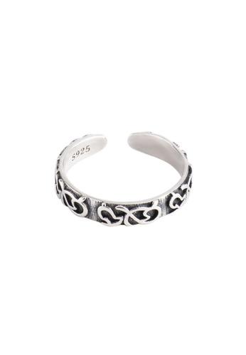 OrBeing 白色 Premium S925 Sliver Geometric Ring 83E4DAC1DFEA9DGS_1
