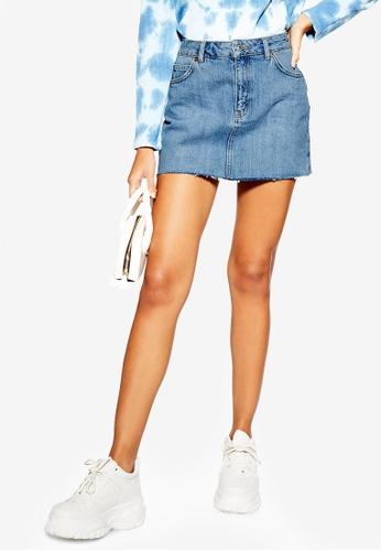 TOPSHOP blue Petite Denim Mini Skirt 1E1D1AA919B8B1GS_1