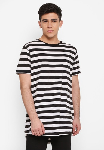 Cotton On 黑色 and 白色 Longline Scoop Hem Tee 5B7A6AA133C994GS_1
