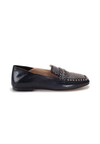 Shu Talk black Amaztep Stylish Studs Convertible Loafers C6C56SH4316FE3GS_1