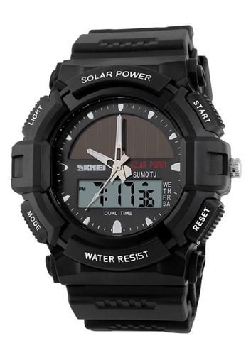 Skmei black SKMEI 1050 Men's Military Solar Power LED Sports Watch (Black) SK707AC0RXNPMY_1