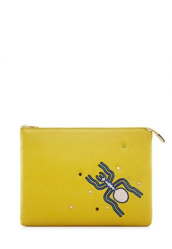 BONIA yellow Yellow The Nazca iPad Case BO777AC0SDVEMY_1