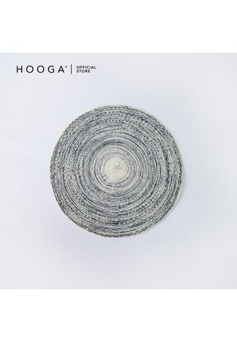 HOOGA grey and white Hooga Placemat. 37CD7HLDD1BA1CGS_1