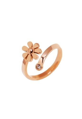 CELOVIS gold CELOVIS - Daisy Minimalist Flower Ring in Rose Gold 6D495AC6E9EA34GS_1