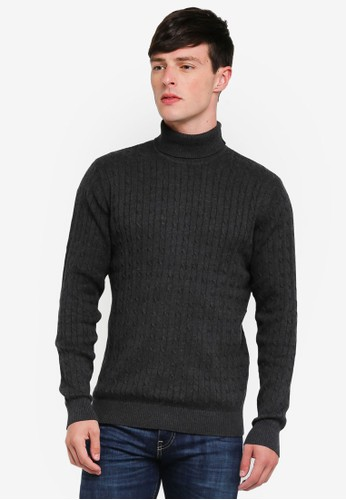 Selected Homme grey Clayton Roll Neck Pullover D3991AA69F41B8GS_1