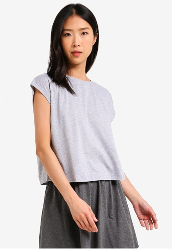 ZALORA BASICS grey Basic Oversized Boxy T-Shirt 5FDC4AAF723954GS_1