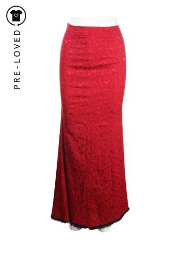 Lolita Lempicka red Pre-Loved lolita lempicka Burgundy Long Silk Skirt 6C1C9AAE4980D6GS_1