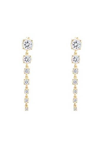 ELLI GERMANY gold Glamorous Swarovski® Gold Plated Earrings 94CD7ACC7B060FGS_1