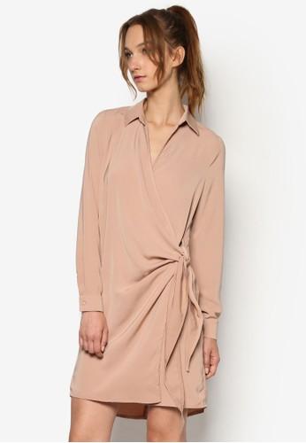 Crepeesprit童裝門市 裹飾側繫帶襯衫連身裙, 服飾, 洋裝