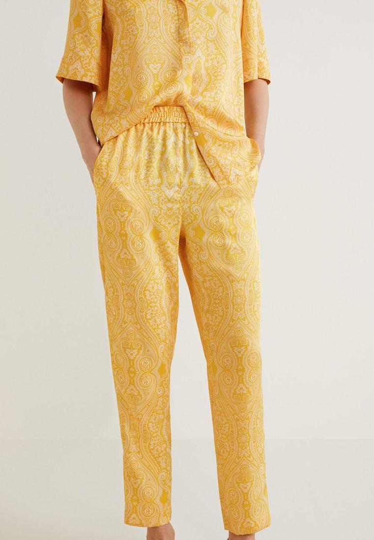 Mango Trousers Print Yellow Print Paisley Mango Paisley vq7RWOwEnp