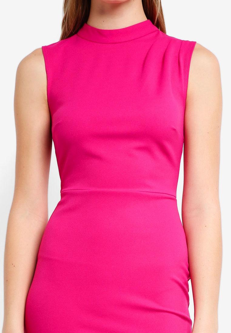 Perkins Neck Pink Pencil Fold Sleeveless Dorothy Dress wXHOSxq
