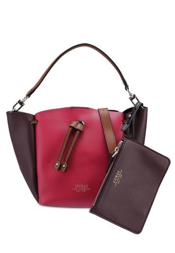 Guess pink Ella Mini Bucket Bag 0694BACE56EF95GS 1
