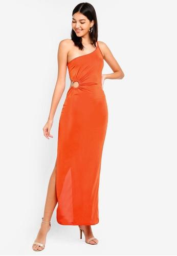 fe695ad49dbc4 MISSGUIDED orange One Shoulder Ring Detail Maxi Dress BAF2DAAE6C00C3GS 1