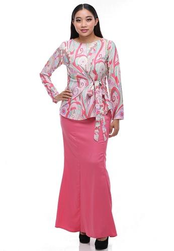 Amber Modern kurung from Secretcode in Pink